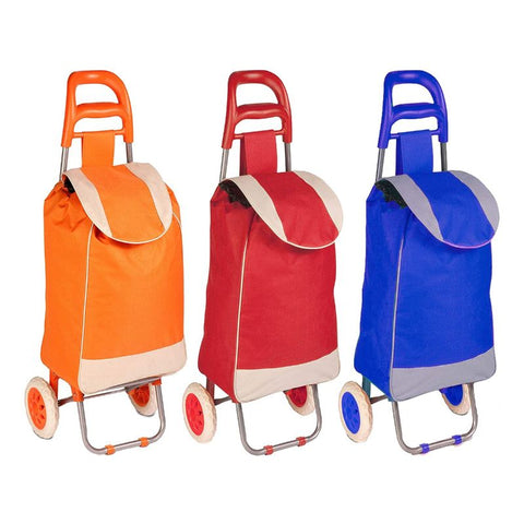 update alt-text with template Daily Steals-Polyester Pull Behind Rolling Travel Hand Cart-Travel-Orange-