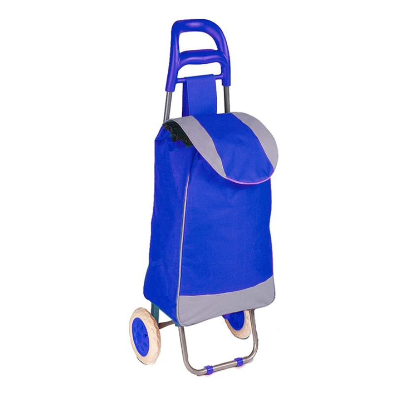 Daily Steals-Polyester Pull Behind Rolling Travel Hand Cart-Travel-Blue-