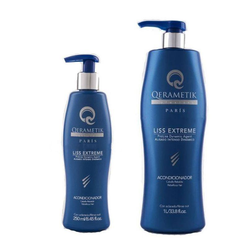 Qerametik Professional Conditioner Liss Extreme Rebellious Hair - 1L or 250ml-250ml/8.45fl.oz-