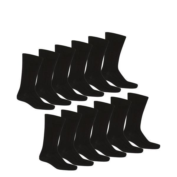 Unibasic Men's Solid Plain Dress Socks, Sizes 10-13-72 pack-Daily Steals