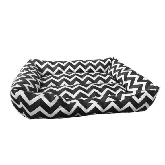 Quiet Time Pet Dog Aztec Style Low Bumper Bed-Chevron-