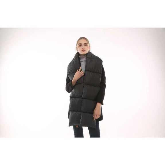 Quilted Nylon Puffer Scarf-Black-Daily Steals