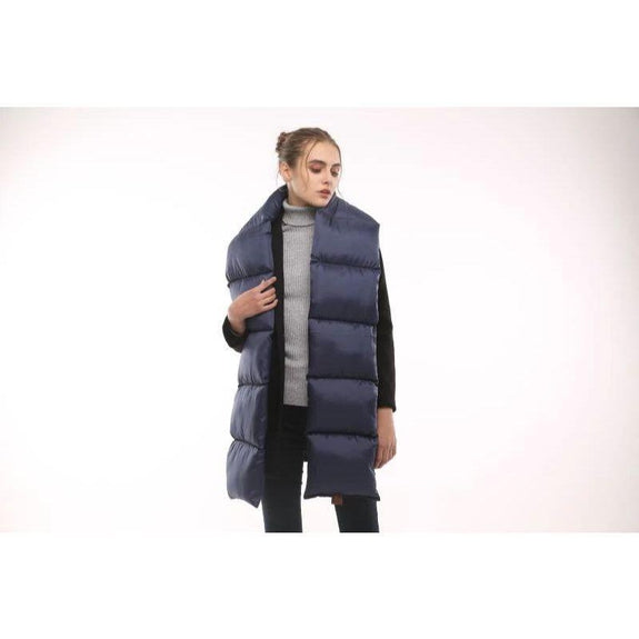 Quilted Nylon Puffer Scarf-Blue-Daily Steals