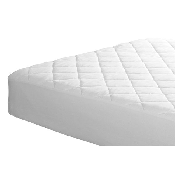 Quilted Fitted Mattress Pad/Topper - White-Daily Steals