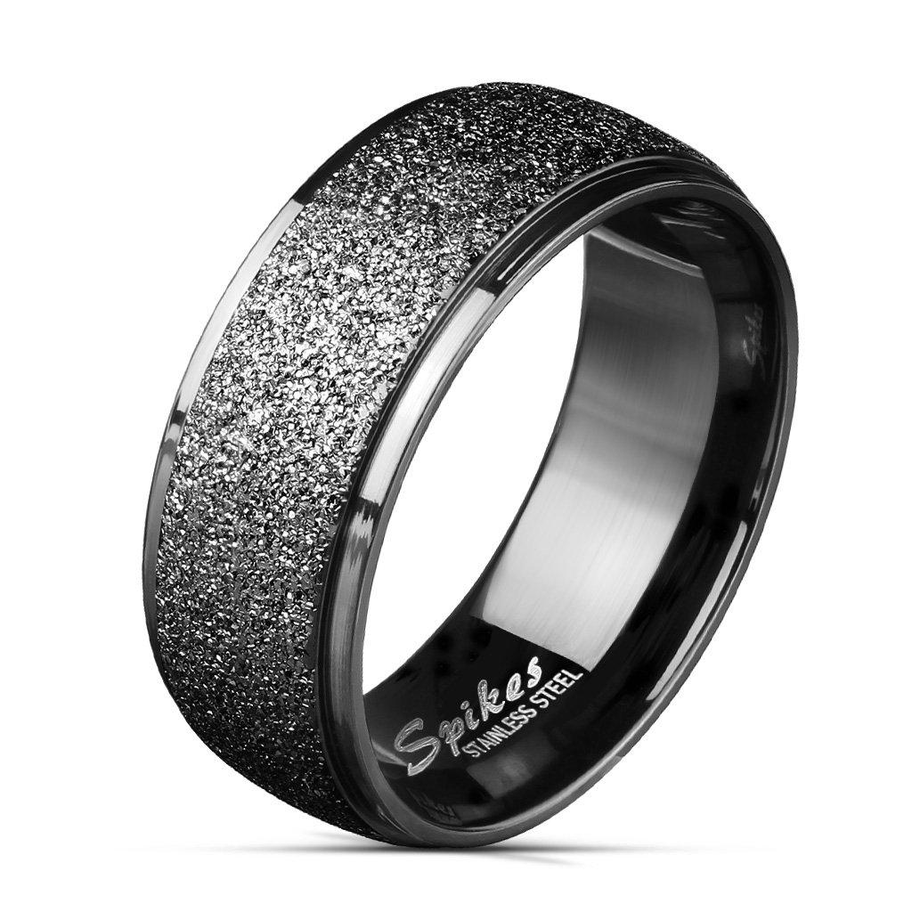 316L Stainless Steel Black Ip Comfort Fit Ring - Eternity Style-Size 9-Daily Steals