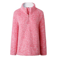 Zip Up Top Polaire Pull-Rose-Large-Daily Steals