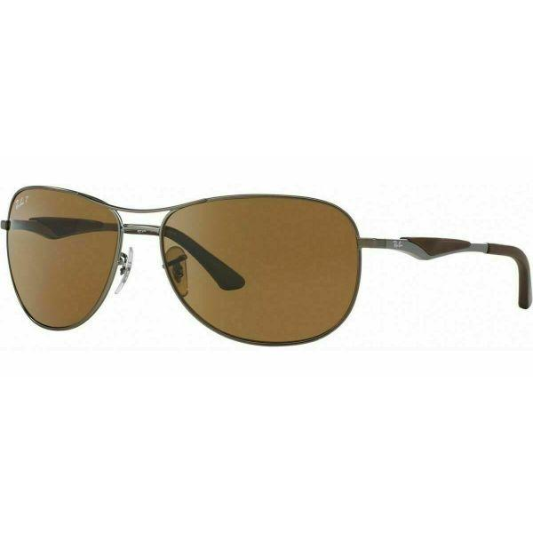 Daily Steals-Ray-Ban Gunmetal/Brown Polarized RB3519 029/83 59MM Aviator Sunglasses-Accessories-