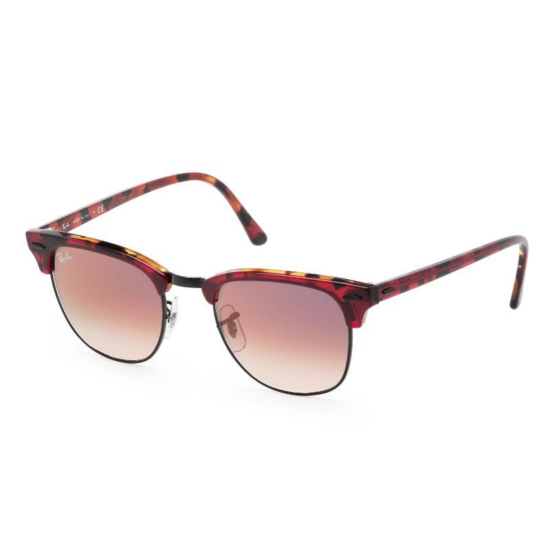 Ray-Ban Men's RB3016-12753B51 Fashion 51mm Top Trasparent Red Frame Sunglasses-