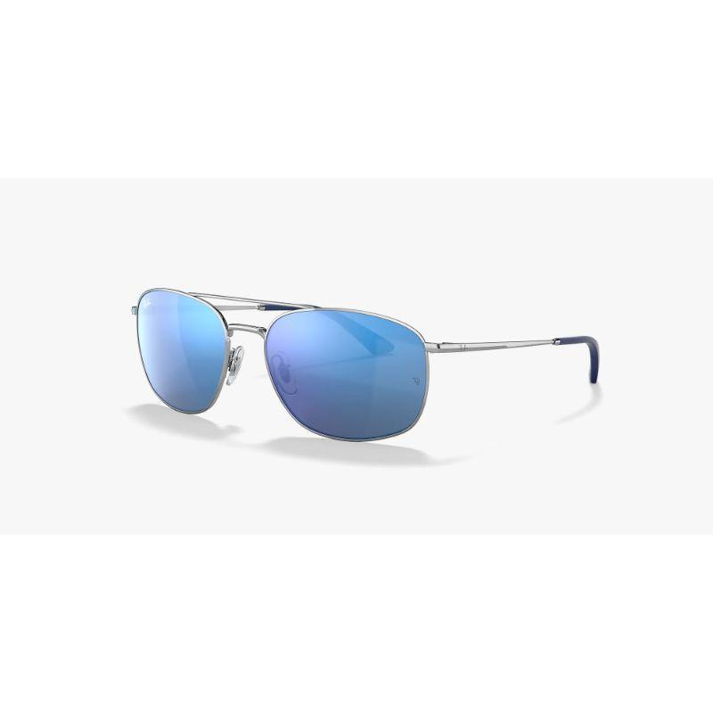 Ray-Ban Men's RB3654-003-5560 Fashion 60mm Silver Frame Sunglasses-