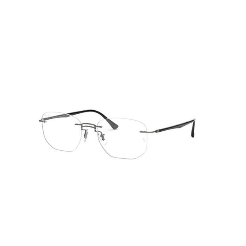 Ray-Ban Men's RX8757 Rectangular Titanium Eyeglass-Daily Steals