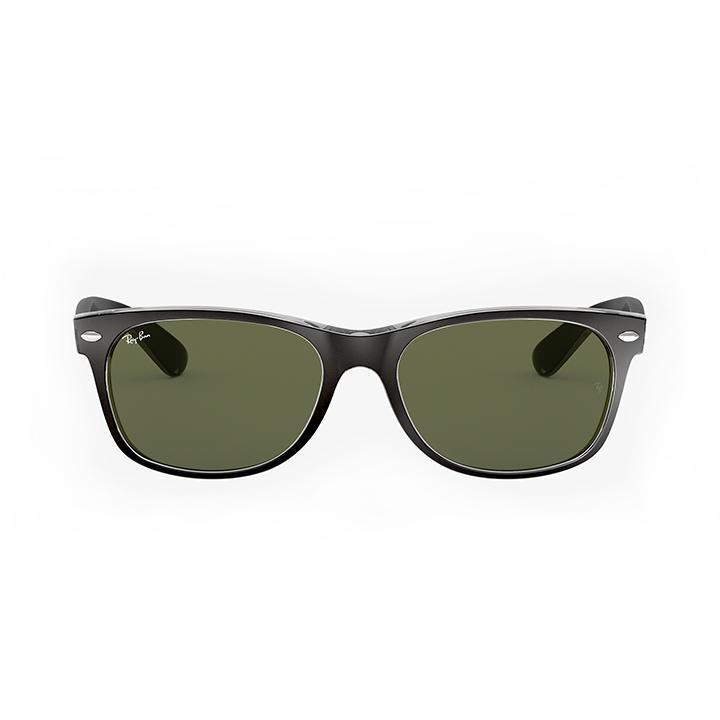 Daily Steals-Ray-Ban RB2132 NEW WAYFARER COLOR MIX 55 Green & Black frame-Sunglasses-