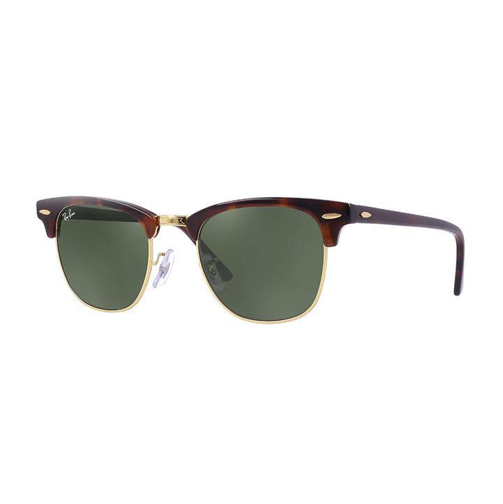 Daily Steals-Ray-Ban RB3016 CLUBMASTER CLASSIC 49 Green & Tortoise-Sunglasses-