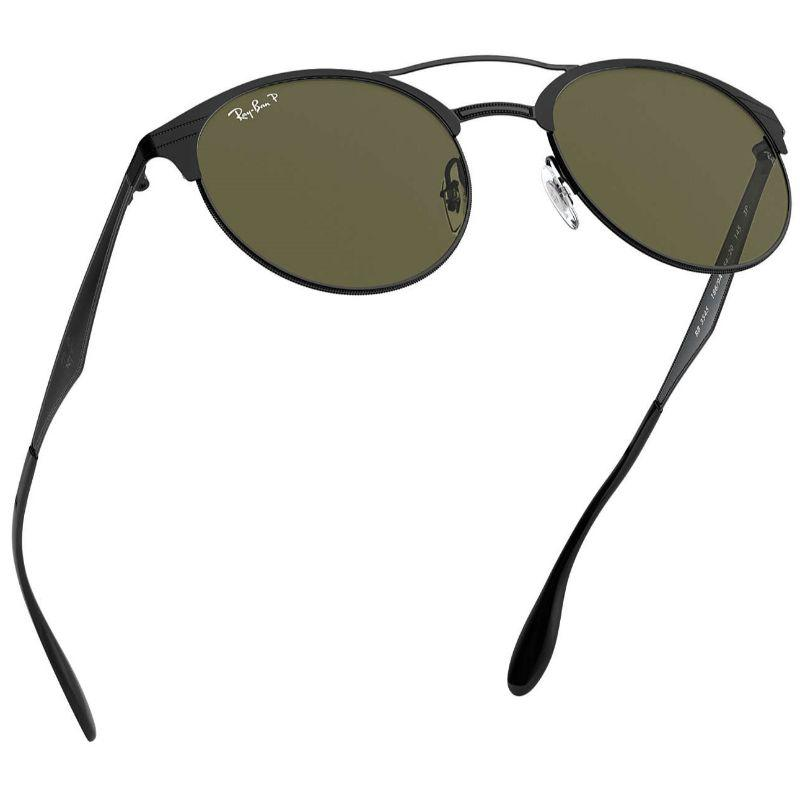 Ray-Ban RB3545-186/9A-54 Polarized Black and Green Classic G-15-Daily Steals