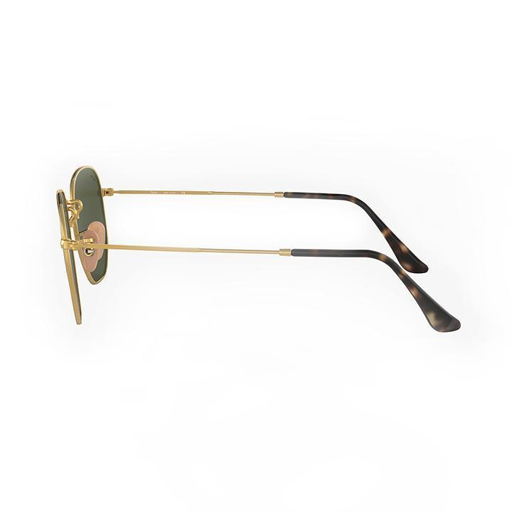 Daily Steals-Ray-Ban RB3548N 51 HEXAGONAL FLAT LENS 51 Green & Gold Metal frame-Sunglasses-