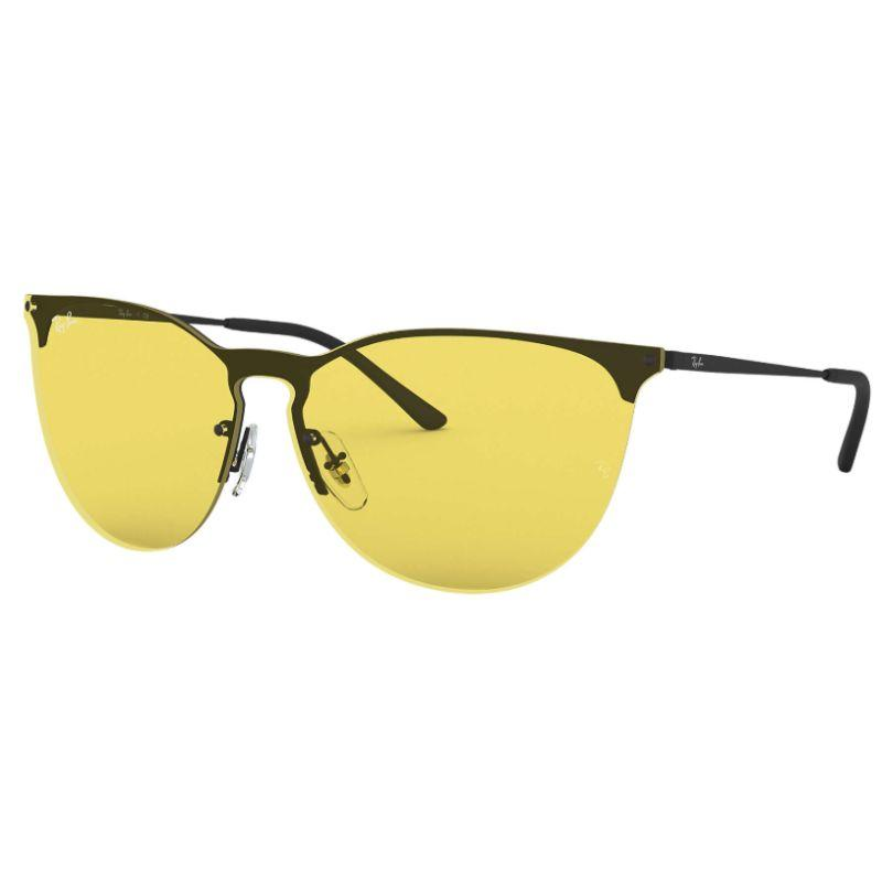 Ray-Ban RB3652 Black and Yellow Round Cat Eye Sunglasses for Women-Daily Steals