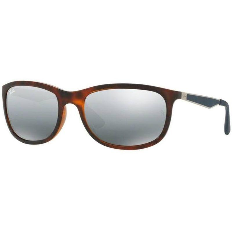 Ray Ban RB4267 6257/88 Tortoise Brown Blue/Gray Rectangular Sunglasses-Daily Steals
