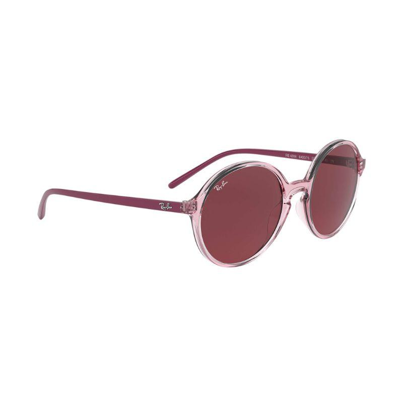 Ray-Ban RB4304 Dark Purple Classic Round Nylon Sunglasses for Women-Daily Steals