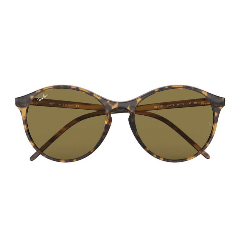 Ray-Ban RB4371 Brown Classic B-15 Round Nylon Sunglasses for Women-Daily Steals