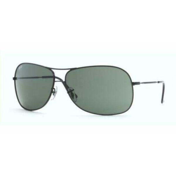 Daily Steals-Ray-Ban Sunglasses RB3267 006/71 64 125 Classic Black Aviator G-15 Green-Sunglasses-