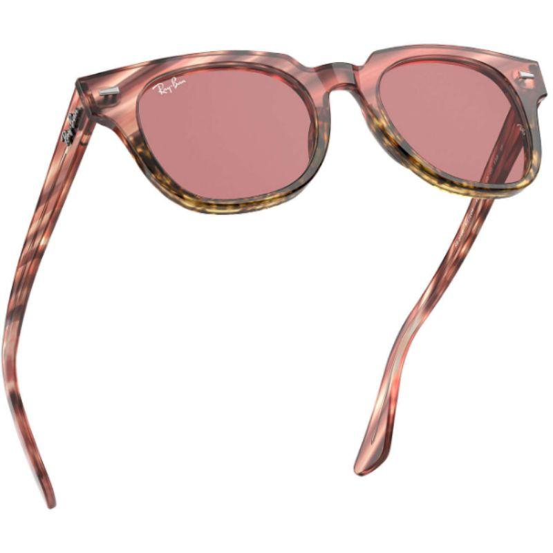 Ray-Ban Unisex RB2168-1253U050 Meteor 50mm Pink/Beige Stripped Sunglasses-