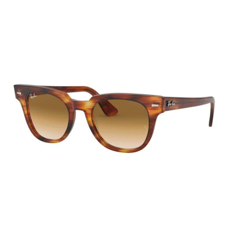 Ray-Ban Unisex RB2168-954-5150 Meteor Classic 50mm Stripped Havana Sunglasses-
