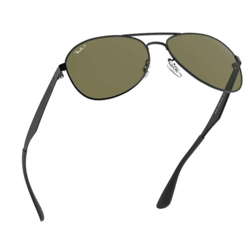 Ray-Ban Unisex RB3549 006/9A 58 Black/Green Aviator Sunglasses-Daily Steals