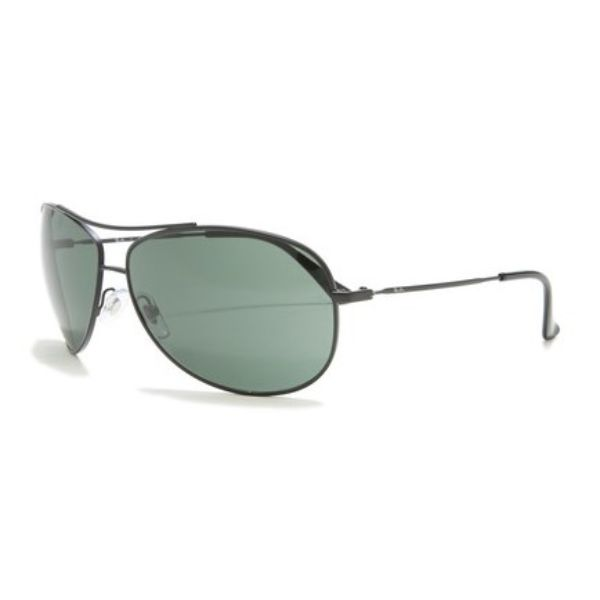 Ray-Ban Sunglasses RB3293 006/71 Matte Black, Green 63mm-Daily Steals