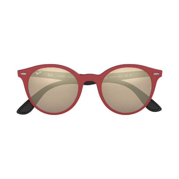 Ray-Ban Sunglasses RB4296 6345/5A 51 Matte Red, Brown/Gold Mirrored Lens-Daily Steals