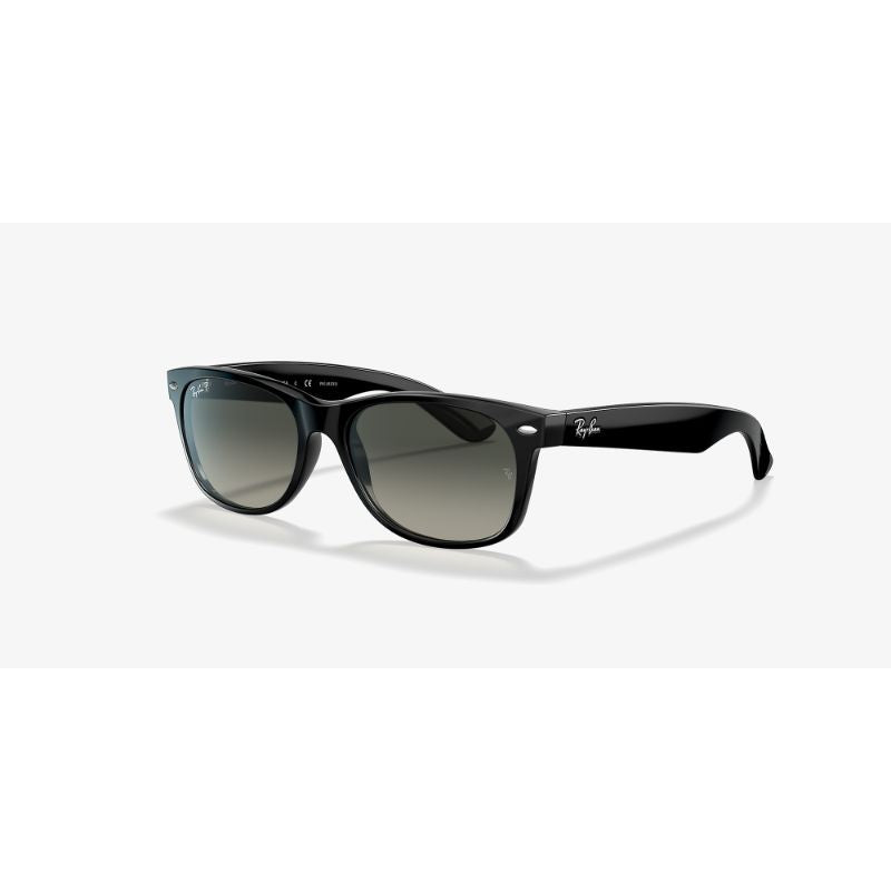 Ray-Ban Wayfarer Polarized Sunglasses, Black/Polarized Gray Gradient, 55 mm-Daily Steals