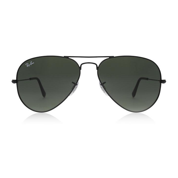 Ray-Ban RB3025 AVIATOR CLASSIC 58 Green & Black Metal Sunglasses-Daily Steals