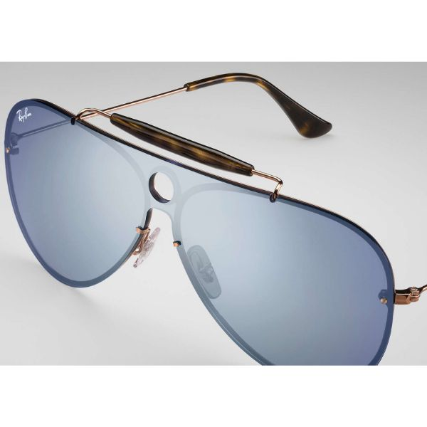 Ray-Ban Sunglasses RB3581N 90351U Copper, Dark Violet Mirror Silver 32mm-Daily Steals