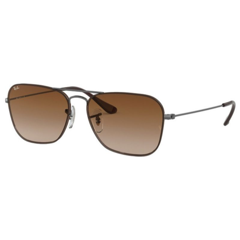 Ray-Ban Aviator RB3603 004 / 13-56 Gafas de sol Gunmetal Brown Gradient Lenses-Daily Steals