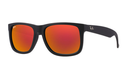 update alt-text with template Daily Steals-Ray-Ban Justin Color Mix Red Mirror Lens Sunglasses-Accessories-