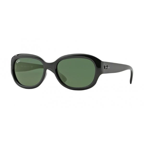 Ray-Ban Sunglasses RB4198 601 55MM Black G15 Oval-Daily Steals