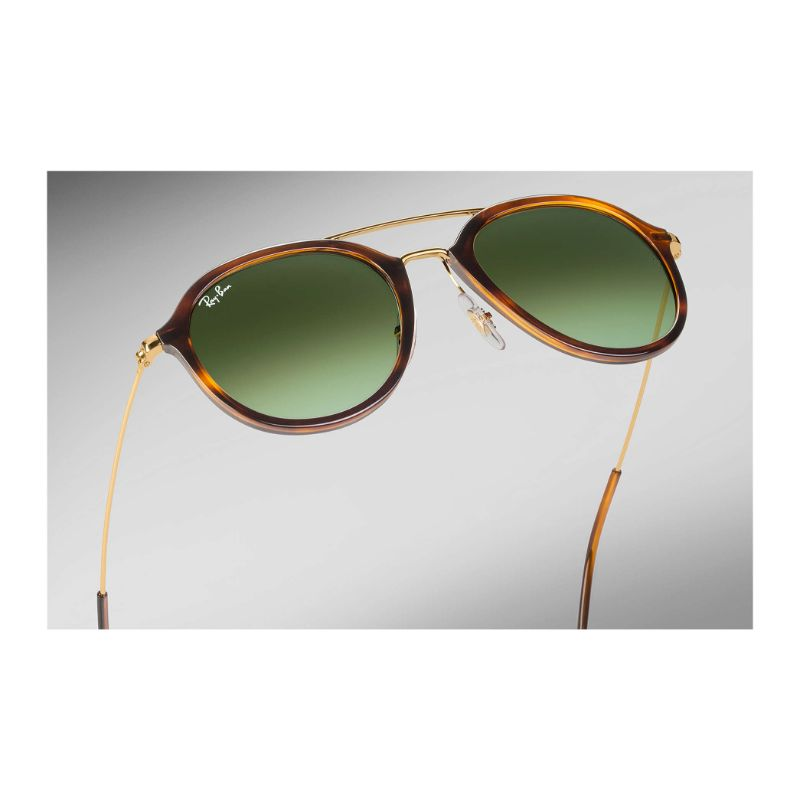 Ray Ban RB4253 820/A6 53MM Gradient Sunglasses Gold Tone/Green/Tortoise-Daily Steals
