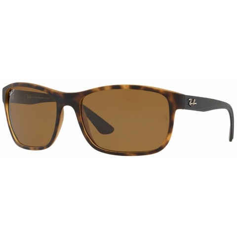 Ray-Ban RB4301L-894-83-62 Polarized Sunglasses Havana Brown Lenses-Daily Steals
