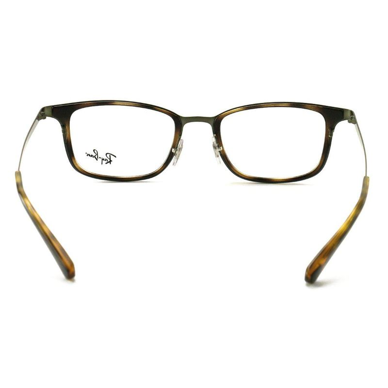 Ray Ban Eyeglasses RX6373M 2923 Brown Bruhed Green 52 20 145 Demo Lens