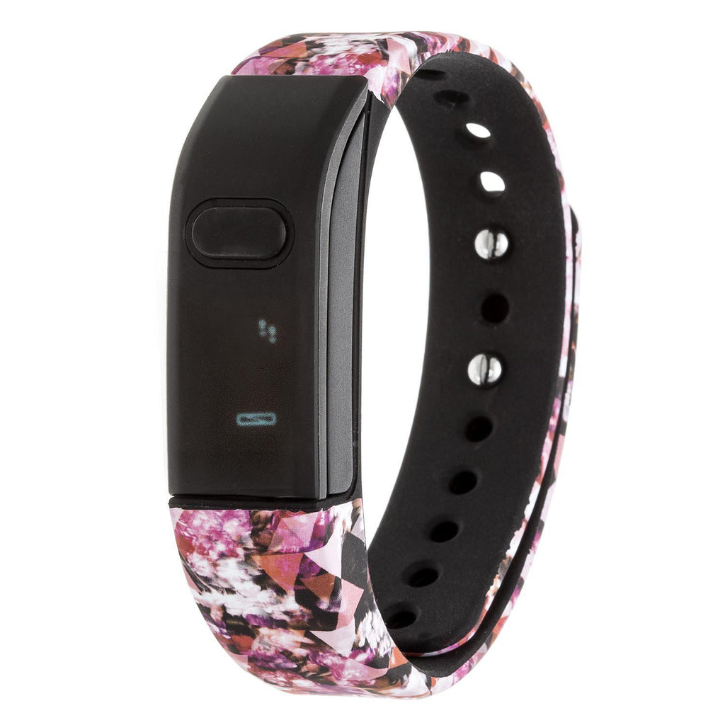RBX Printed Activity Fitness Tracker with Caller ID and Notification-Pink-Daily Steals