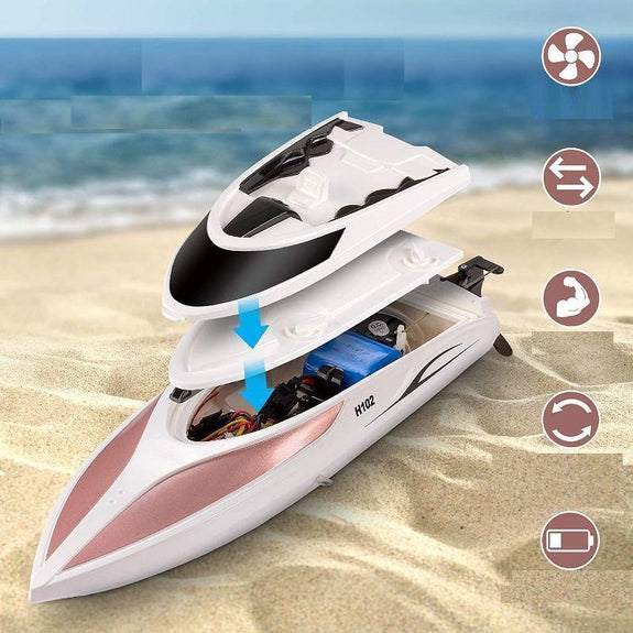 RC Remote Control Boat 20 MPH Speed Incredible Waves Pool or Lakes-