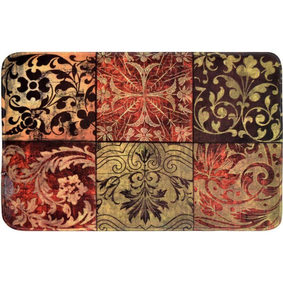 Comfort Chef Anti-Fatigue Premium Kitchen Mat-Red Mosaic-Daily Steals