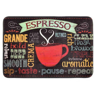 Comfort Chef Anti-Fatigue Premium Kitchen Mat-Chalk Red Cup of Espresso-Daily Steals