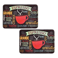 Comfort Chef Anti-Fatigue Premium Kitchen Mat-Chalk Red Cup of Espresso - 2 Pack-Daily Steals