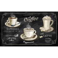 "Cushioned 20"" x 30"" Anti-Fatigue Kitchen Mats-Cappuccino Latte Mocha-Daily Steals"