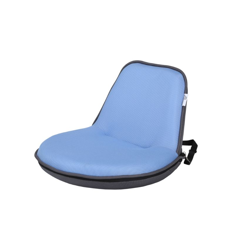 Loungie Quickchair Indoor/Outdoor Portable Foldable Mesh Floor Chair-Light Blue/Grey-Daily Steals