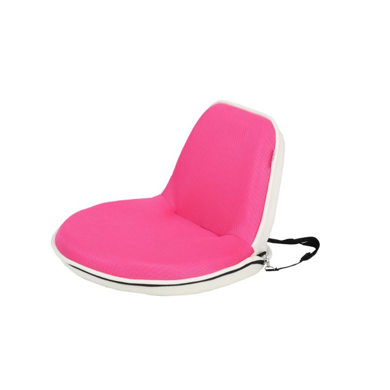 Loungie Quickchair Indoor/Outdoor Portable Foldable Mesh Floor Chair-Pink/White-Daily Steals
