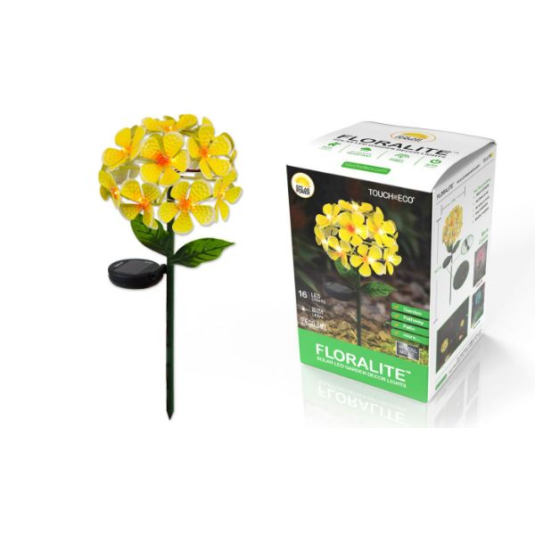 Solar LED Metal Flower Stake Lights - 1, 2, or 3 Pack-Yellow-1-Pack-Daily Steals