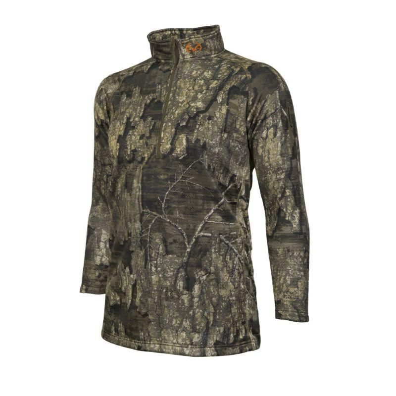 Realtree Camo Weather Resistant 1/4 Zip Pull Over Hunting Shirt by Hyde Gear-L-Daily Steals