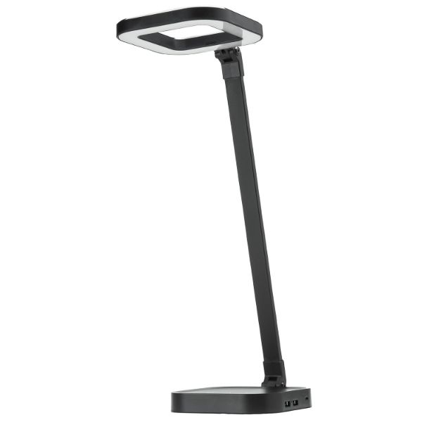 Rechargeable Cordless LED Lamp with Built in 10,000mAh Power - Dual USB Ports-Black-Daily Steals
