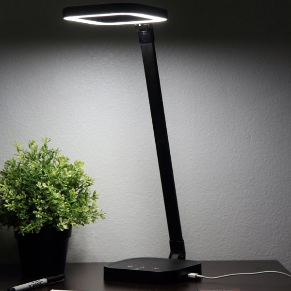 Rechargeable Cordless LED Lamp with Built in 10,000mAh Power - Dual USB Ports-Daily Steals