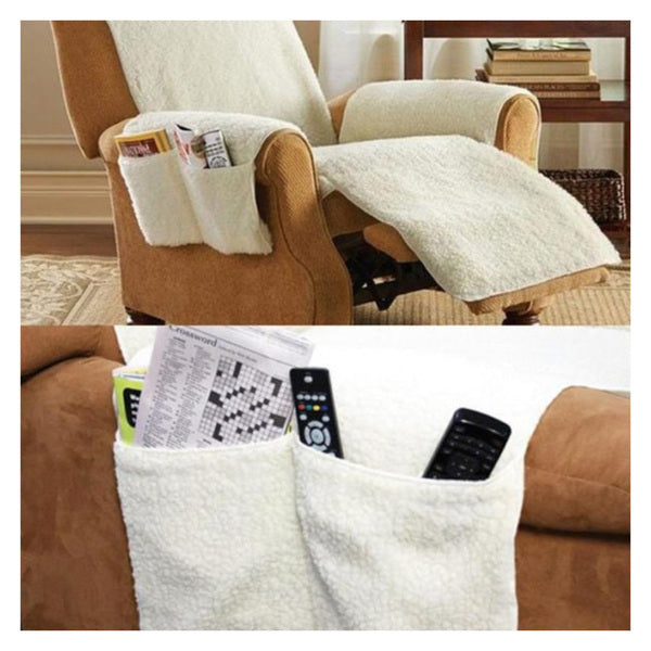 Daily Steals-Soft and Breathable Recliner Cover with Pockets-Furniture-